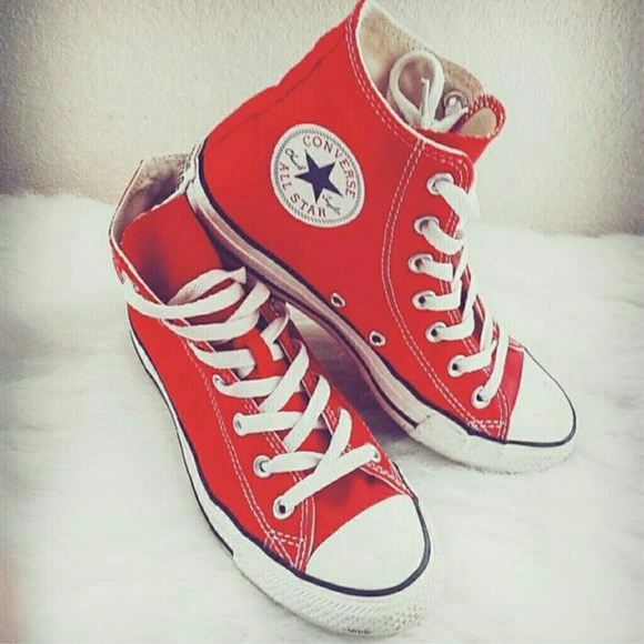 quality and quantity assured super cheap discount price High top red Converse